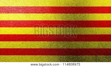 Flag of Catalonia, Catalan Flag painted on glass