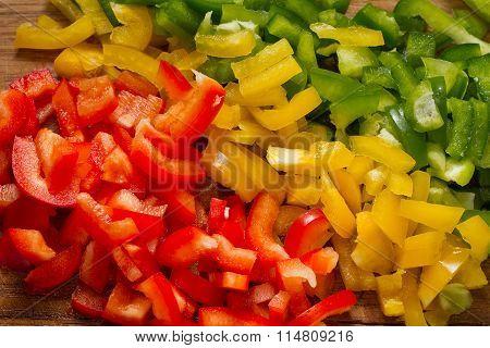 chopped bell pepper