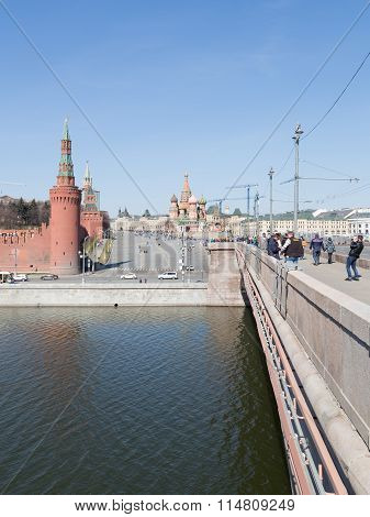 People In The Greater Moscow River Bridge