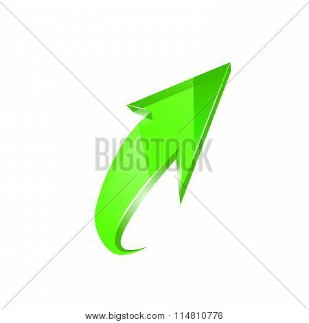 Green arrow. Vector