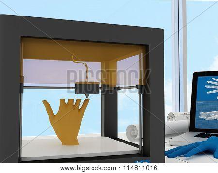 3d printed human hand