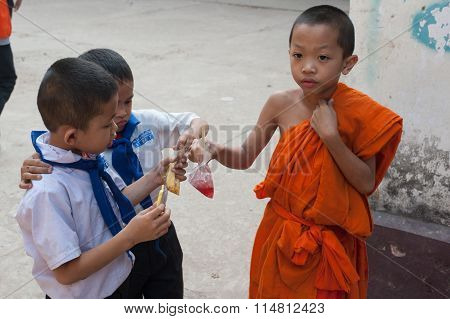 School Children In Laos