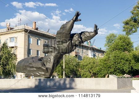 Monument To Mikhail Panikakhe. Volgograd, Russia