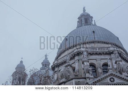 View Of Santa Maria Della Salute In Fog