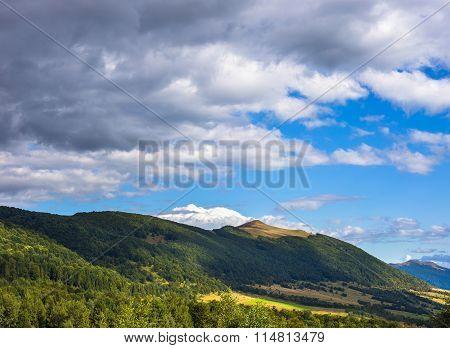 Fantastic mountain landscape. Hot sunny summer day