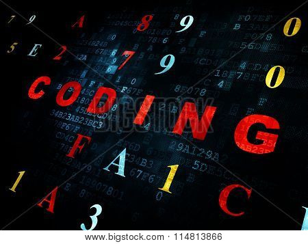 Programming concept: Coding on Digital background