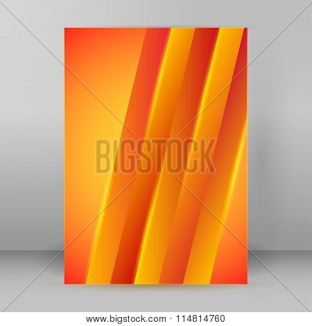 Page Flyer Design Stripe Orange Background
