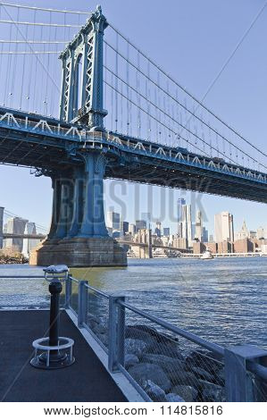 Manhattan Bridge At New York