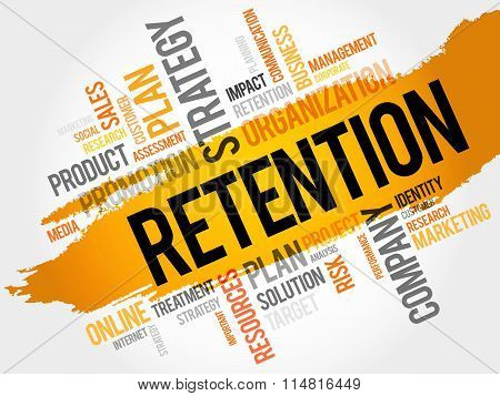 Word Cloud With Retention