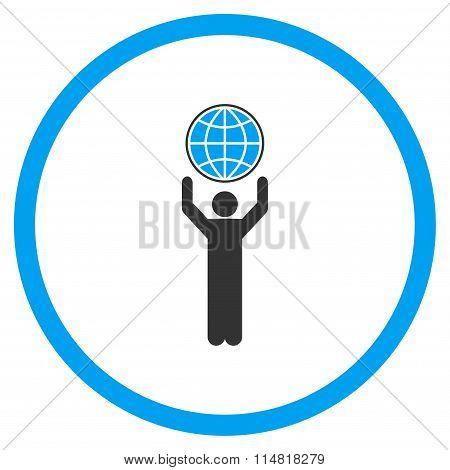 Globalist Flat Icon