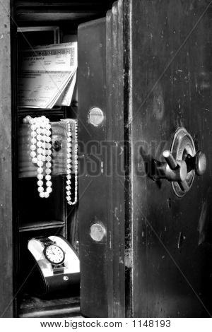 Old Safe With Securities