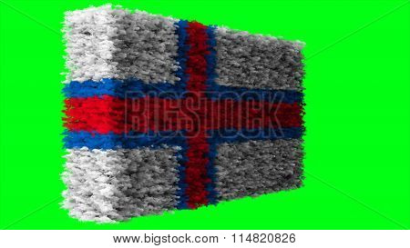 Flag of the Faroe Islands, Faroese flag made from clouds