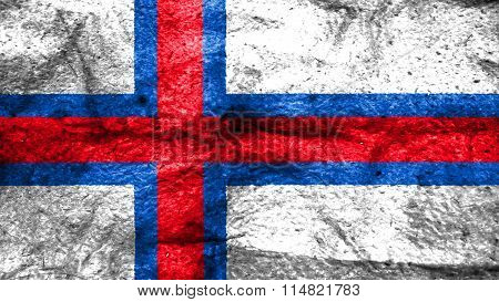 Flag of the Faroe Islands, Faroese flag painted on wool