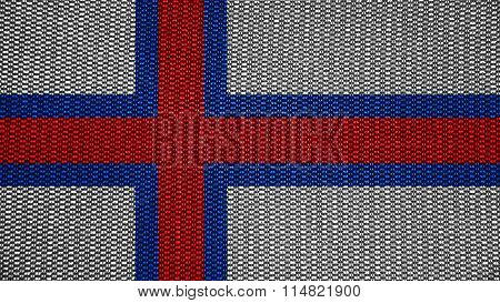 Flag of the Faroe Islands, Faroese flag painted on stitch