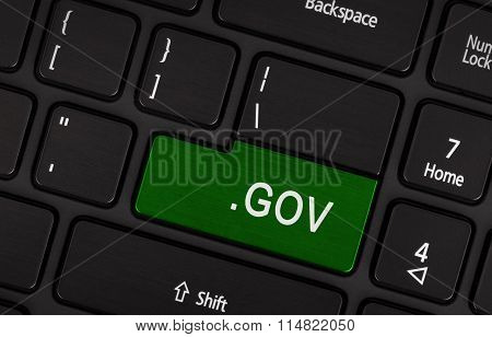 Computer Key Green - .gov