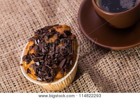 Warm Muffin With Chocolate