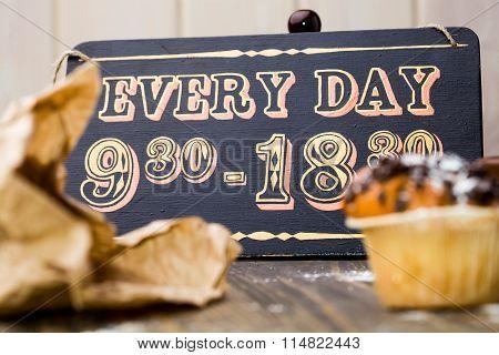 Vintage Wooden Sign Board