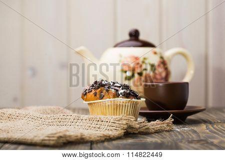 Appetizing Breakfast Fresh Cupcake