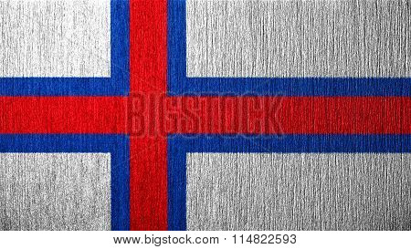 Flag of the Faroe Islands, Faroese flag painted on metal texture