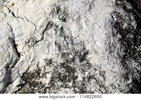 Stone Formations Covered With Salt