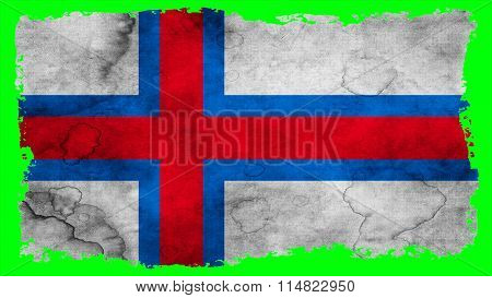 Flag of the Faroe Islands, Faroese flag painted on paper texure