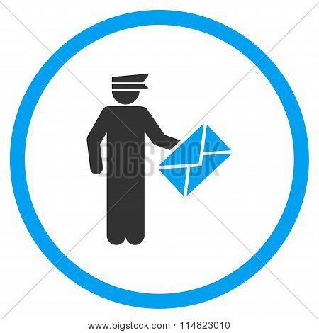 Postman Flat Icon