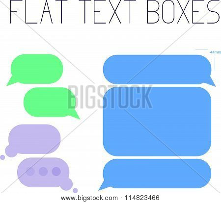 Vector collection of flat text balloons.