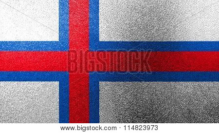 Flag of the Faroe Islands, Faroese flag painted on glass