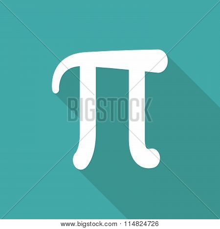 Mathematic Pi Icon Flat.