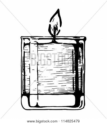 The Candle In Glass.