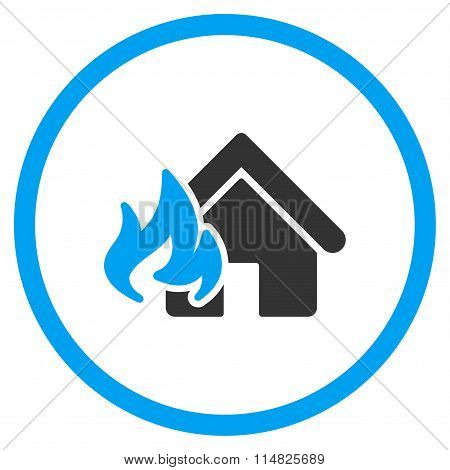Home Fire Damage Flat Icon