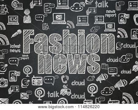 News concept: Fashion News on School Board background