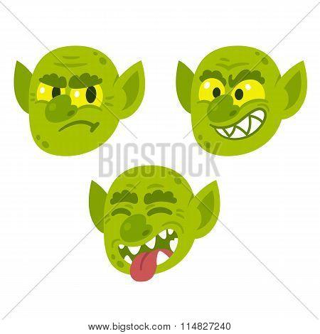 Funny Cartoon Goblin Faces