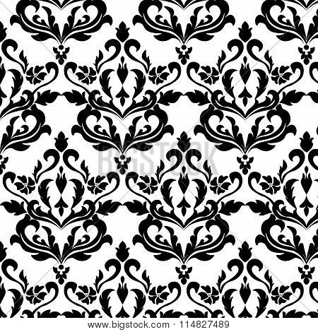 Classic style floral ornament pattern