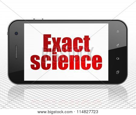 Science concept: Smartphone with Exact Science on display