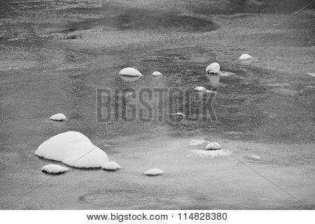 stones in the ice