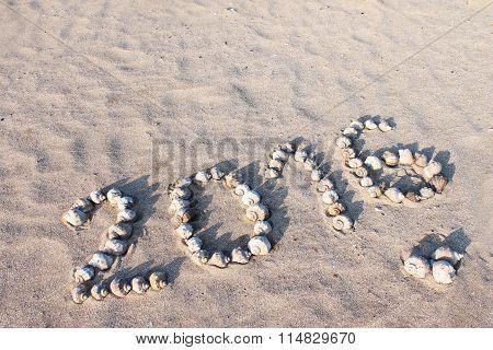 2016 Inscription On The Sand