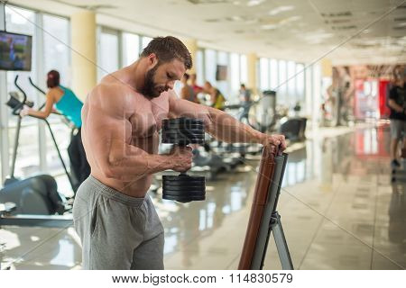 Brutal man in gym.