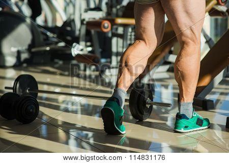 Strong man's legs.
