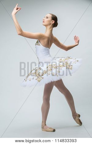 Ballerina in the studio