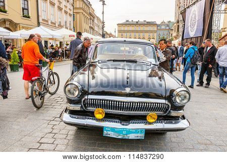 Krakow, Poland - May 15, 2015: GAZ On The Rally Of Vintage Cars In Krakow, Poland