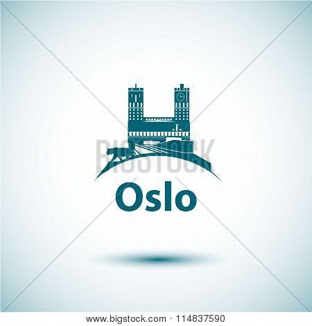 Linear Oslo City Silhouette