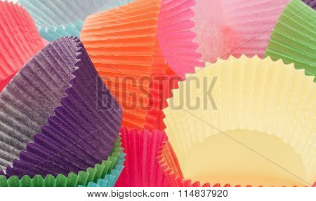 Coloured Cupcake Baking Cases