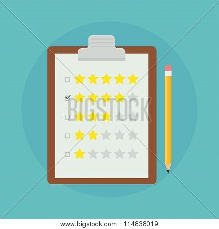 Feedback vector flat illustration