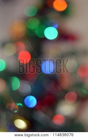 Chistmass Tree Lights Bokeh