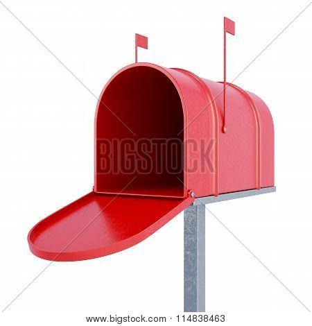An Empty Mailbox. 3D Rendering.