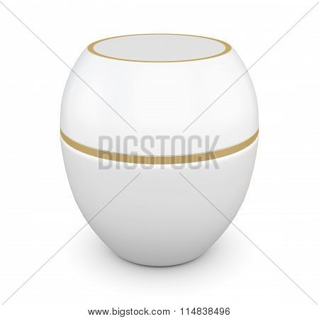 Jar For Cosmetics For Your Design. 3D Rendering.
