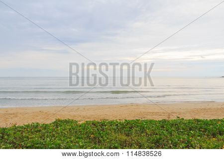 Peaceful Beach And Ocean Scenic For Vacations And Summer.