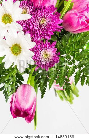 Bright Pink And White Flower Bouquet