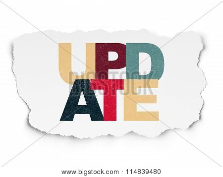 Web design concept: Update on Torn Paper background